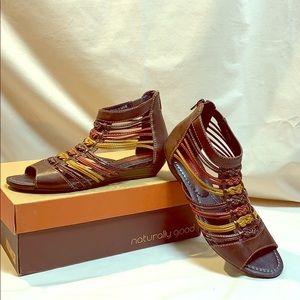 NIB Pikolinos Gladiator Leather Sandals
